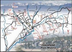 Карта Закопане